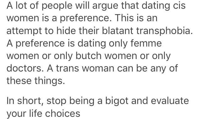 being a lesbian is a bigoted _life choice_ now