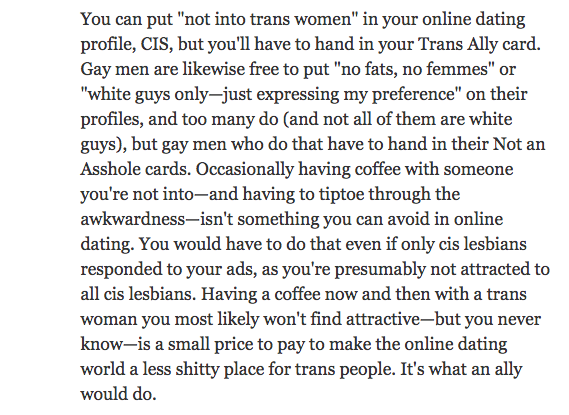 Dan Savage (a man) advice pt 1 (answer)