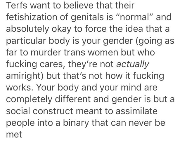 genital fetishist shaming. message to female homosexuals- _you are not normal_