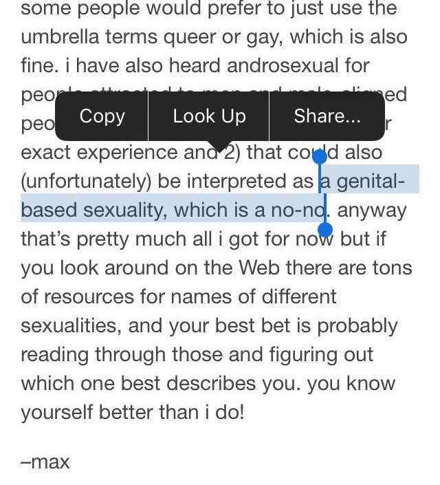 homosexuality itself is a no-no