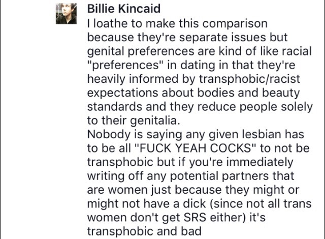 it_s bad for lesbians to be exclusuvely attracted to females