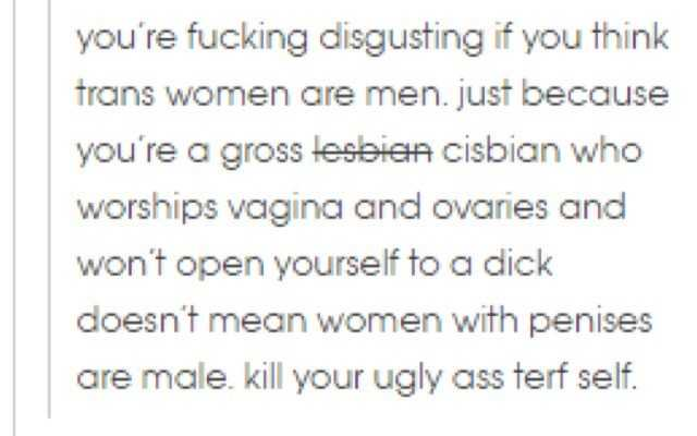 kill yourself lesbians, you_re gross