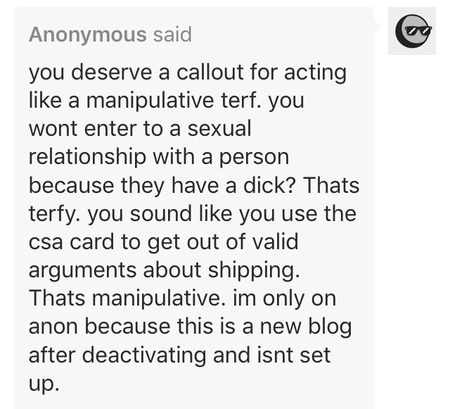 lesbian accussed of _using the CSA card_