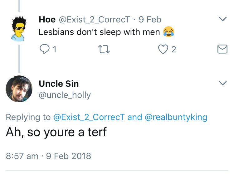 lesbians don_t sleep with men = terf