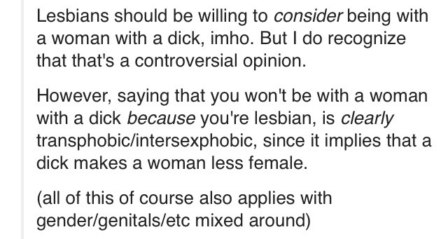 lesbians should consider being with men