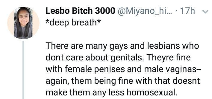 many lesbians are fine with dick..