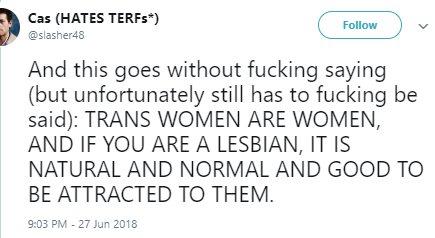 normal lesbians like men
