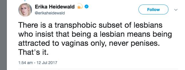 not fucking men = bad