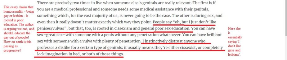 Not liking penis = cissexism