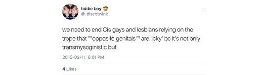 opposite genitals