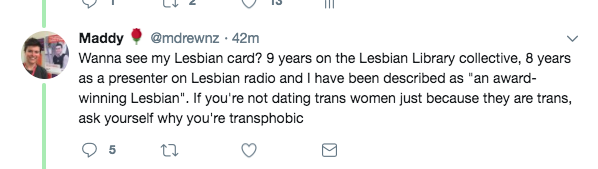 or.. you are a lesbian