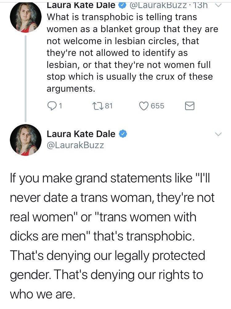 so lesbians should deny their orientation. #progressive