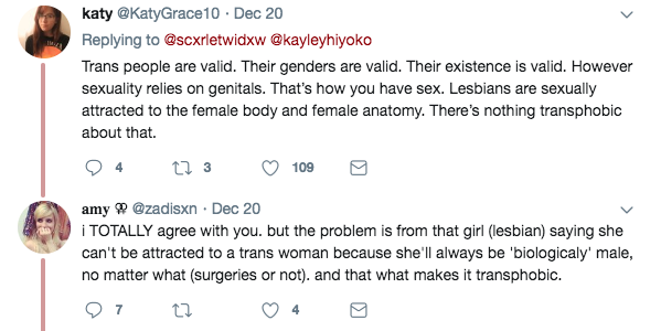 the problem is lesbians NEVER being into male people