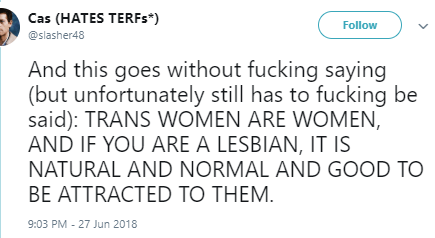 usual shit- It_s not natural _ not normal to be a female homosexual