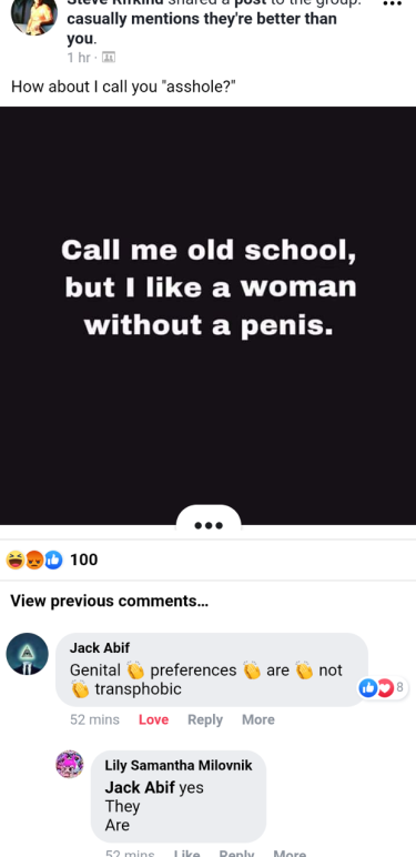 genital preferences are transphobic