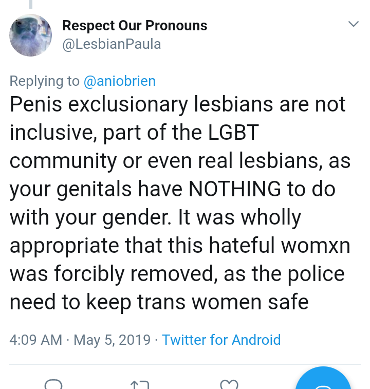 penis-exclusionary lesbians are a problem