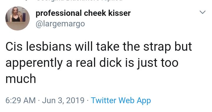transwoman talking about lesbians